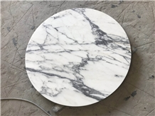 Honed Surface Arabescato White Marble Table Tops