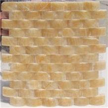 Honey Onyx Mosaic Bathroom Tile