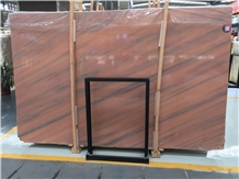 Inexpensive Galaxy Red Marble Stone Tile Flooring