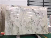 Landscape Painting for Home White Marble Wall Tile