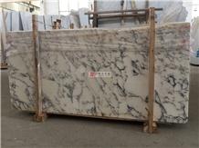 Natural Italian White Marble Arabescato Slab Wall