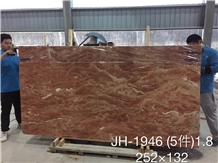 Orange Peel Red Marble Slab