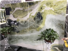 Painting Green Marble Slabs