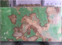 Pakistan Dark Green Onyx for Backlit Wall Tiles