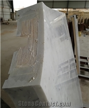 Plywood Backing Carrera White Marble Stair