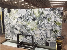 Polished Ice Green Marble Slabs