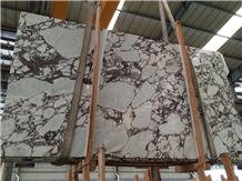 Polished Large Calacatta Vagli Rosato Marble Slab