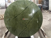 Polished Ming Green Marble Round Table Tops