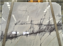Polished New York White Marble Slabs