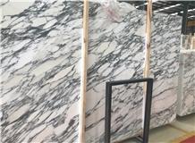 Polished White Statuary Marble Flooring Tiles