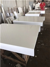 Pure White Nano Stone Fabricate Table Bar Top