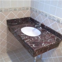 Rosso Lepanto Marble Bathroom Vanity Top