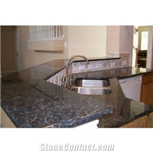 Tan Brown Granite Kitchen Custom Countertops