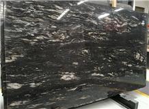 Titanium Black Granite Slabs Flooring Tiles