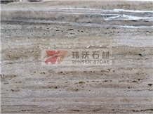 Unfilled Honed Finished Silver Travertine Slabs