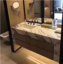 Vino Viola Calacatta Marble Bathroom Countertop