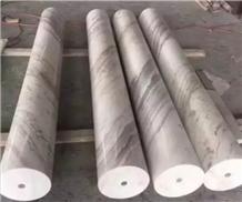 Volakas White Marble Stone Columns Design