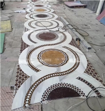 Water-Jet Marble Medallion Arabic Floor Pattern