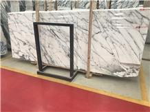 White Arabescato Marble Slab Tile
