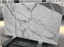 White Marble Black Vein Calacatta Marble Slab Tile