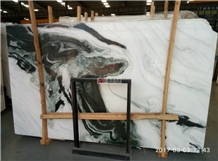 White Marble Black Vein Panda White Slabs