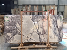 White Milas Lilac Marble Slabs