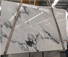 China Ink White Blue Sky White Marble Slabs&Tiles