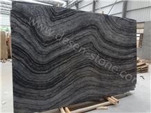 Silver Waves Zebra Black Marble Stone Slabs&Tiles