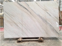Polish White Gold Sand Marble for Tv Set Cladding