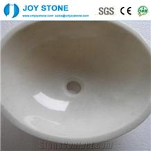 Wholesale White Marble Vessel Stone Wash Basin