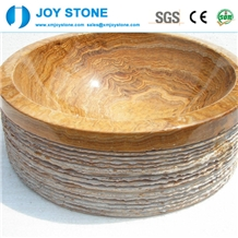 Wholesale Yellow Marble Basin Wash Bowls