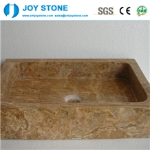 Wholesale Yellow Marble Rectangle Basin