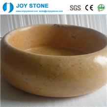 Wholesale Yellow Marble Round Basin