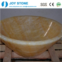 Wholesale Yellow Marble Vessel Basin