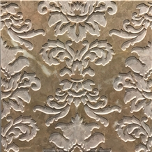 3d Carving Tiles Panels Coco Brown Marble