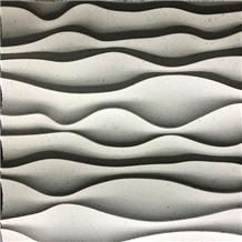 3d Carving Wall Application Moca Cream Limestone