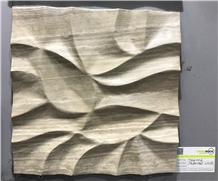 3d Carving Wall Cladding Teakwood White