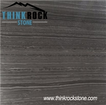 China Hematite Black Wooden Marble Slabs & Tiles