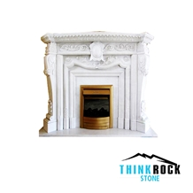 China Hunan White Marble Fireplace Surrounding