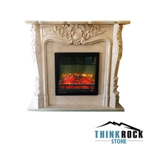 Crema Marfil Classico Fireplace Surrounding-3