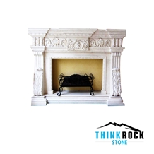 Egypt Galala Medium Marble Fireplace Surrounding
