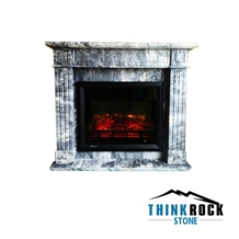 Italy Vena Grigio Marble Fireplace Surrounding-2