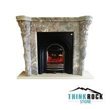 Italy Vena Grigio Marble Fireplace Surrounding