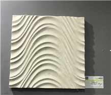 Limestone 3d Carving Wall Tiles Portugal Beige