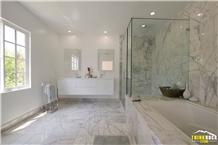 Oriental White Tiles & Counter Tops for Bathroom