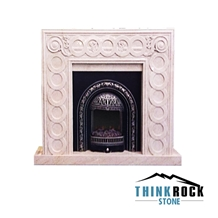 Spain Crema Marfil Classico Fireplace Surrounding