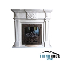 Turkey Ultraman Beige Marble Fireplace Surrounding