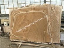 Australian Sandstone with Wooden Veins Slabs Tiles