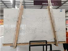 Calacatta White Nano Glass Stone Artificial Slab