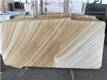 China Beige Wood Vein Sandstone for Exterior Decor